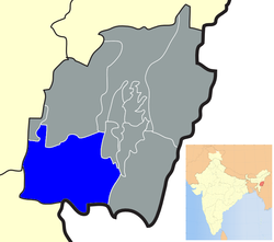 Location of Churachandpur district in Manipur