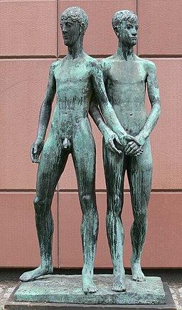 Mannheim Kunsthalle Skulpturengarten Gerhard Marcks Zwei Freunde