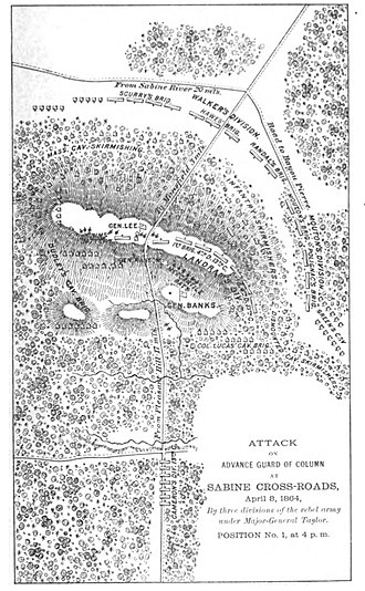 Battle of Mansfield - Image: Mansfield Map From Banks Offica Report