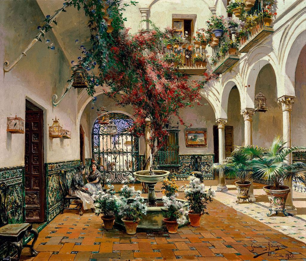 Manuel García Rodríguez Inside Courtyard, Seville.jpg