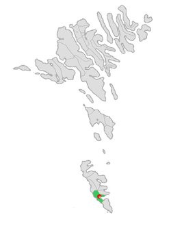 Location of Vágs kommuna in the Faroe Islands