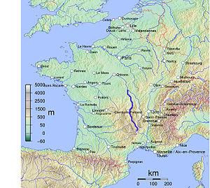 Allier (river) - Image: Map Allier