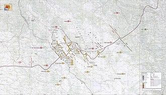 Operation Winter '94 - Map of Operation Winter '94