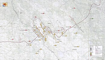 Military map of Operation Winter '94
