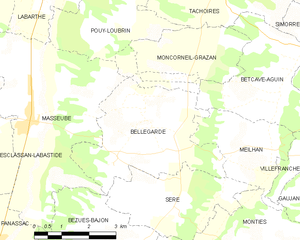 Bellegarde, Gers - Bellegarde and its surrounding communes