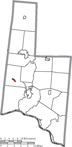 Location of Hamersville in Brown County