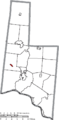 Map of Brown County Ohio Highlighting Hamersville Village.png