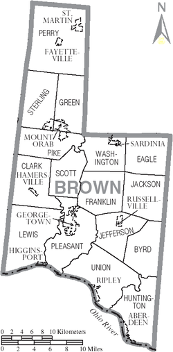 Map of Brown County Ohio With Municipal and Township Labels.PNG