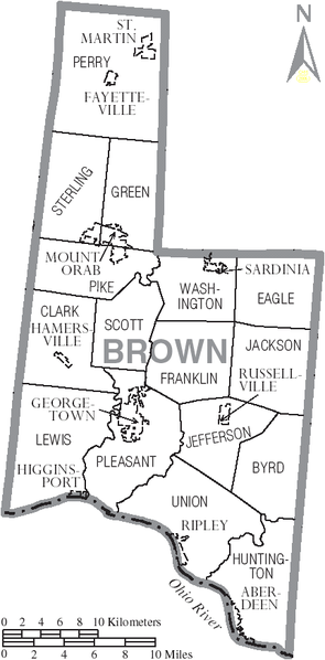 Tập tin:Map of Brown County Ohio With Municipal and Township Labels.PNG