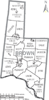 Municipalities and townships of Brown County