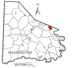 Map of Gastonville, Washington County, Pennsylvania Highlighted.png