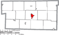 Map of Holmes County Ohio Highlighting Millersburg Village.png