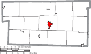 Millersburg, Ohio - Image: Map of Holmes County Ohio Highlighting Millersburg Village