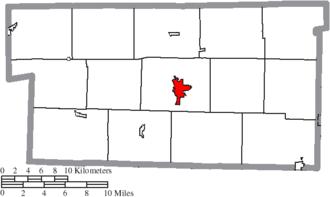 Millersburg, Ohio - Image: Map of Holmes County Ohio Highlighting Millersburg Village