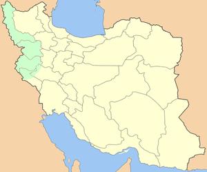 Iran–PJAK conflict - Image: Map of Iranian Kurdistan
