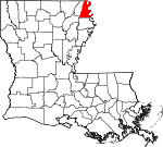 State map highlighting East Carroll Parish