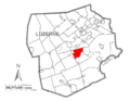 Map of Luzerne County, Pennsylvania Highlighting Rice Township.PNG