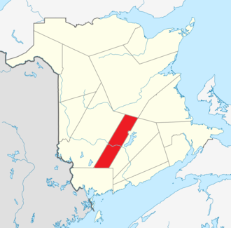 Sunbury County, New Brunswick - Image: Map of New Brunswick highlighting Sunbury County