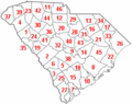 Map of South Carolina counties numbered.png