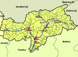 Karta Nord Italien.Sydtyrolen Wikipedia