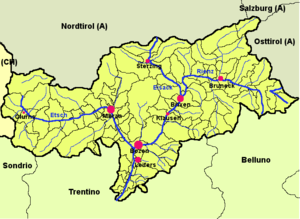 Map of South Tyrol (de)