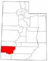Map of Utah highlighting Iron County.png