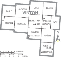 Municipalities and townships of Vinton County