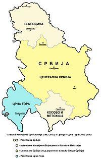 srbija i crna gora mapa Србија и Црна Гора — Википедија, слободна енциклопедија srbija i crna gora mapa