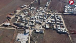 Maraanaz - Aerial view of Maraanaz in December 2016, during the Syrian Civil War