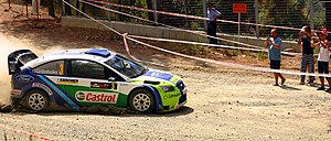Marcus Grönholm - Grönholm driving a Ford Focus RS WRC 06 at the 2006 Cyprus Rally.