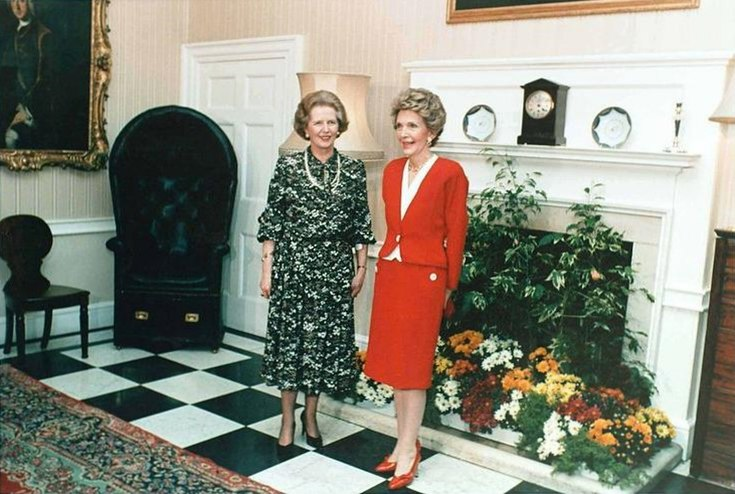 Margaret Thatcher Nancy Reagan 1986