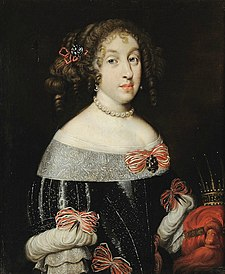 Marguerite Louise d'Orléans as Grand Duchess of Tuscany with the Tuscan grand ducal crown (Florentine school).jpg