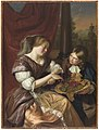 Maria Schalcken (attributed to) - A Boy Offering Grapes to a Woman.jpg