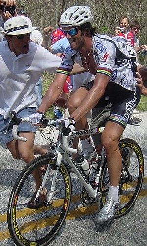 Mario Cipollini - Cipollini climbing during the 2004 Tour de Georgia
