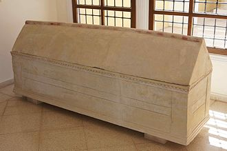Marion, Cyprus - Hellenistic limestone sarcophagus from Marion, Polis Museum