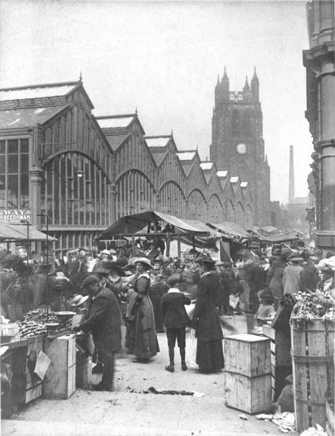 Market Day in Stockport 1910s