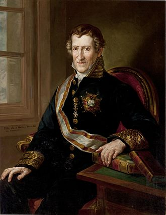 Order of Isabella the Catholic - Martín Fernández de Navarrete, librarian of the Royal Spanish Academy, wearing the sash of the order.