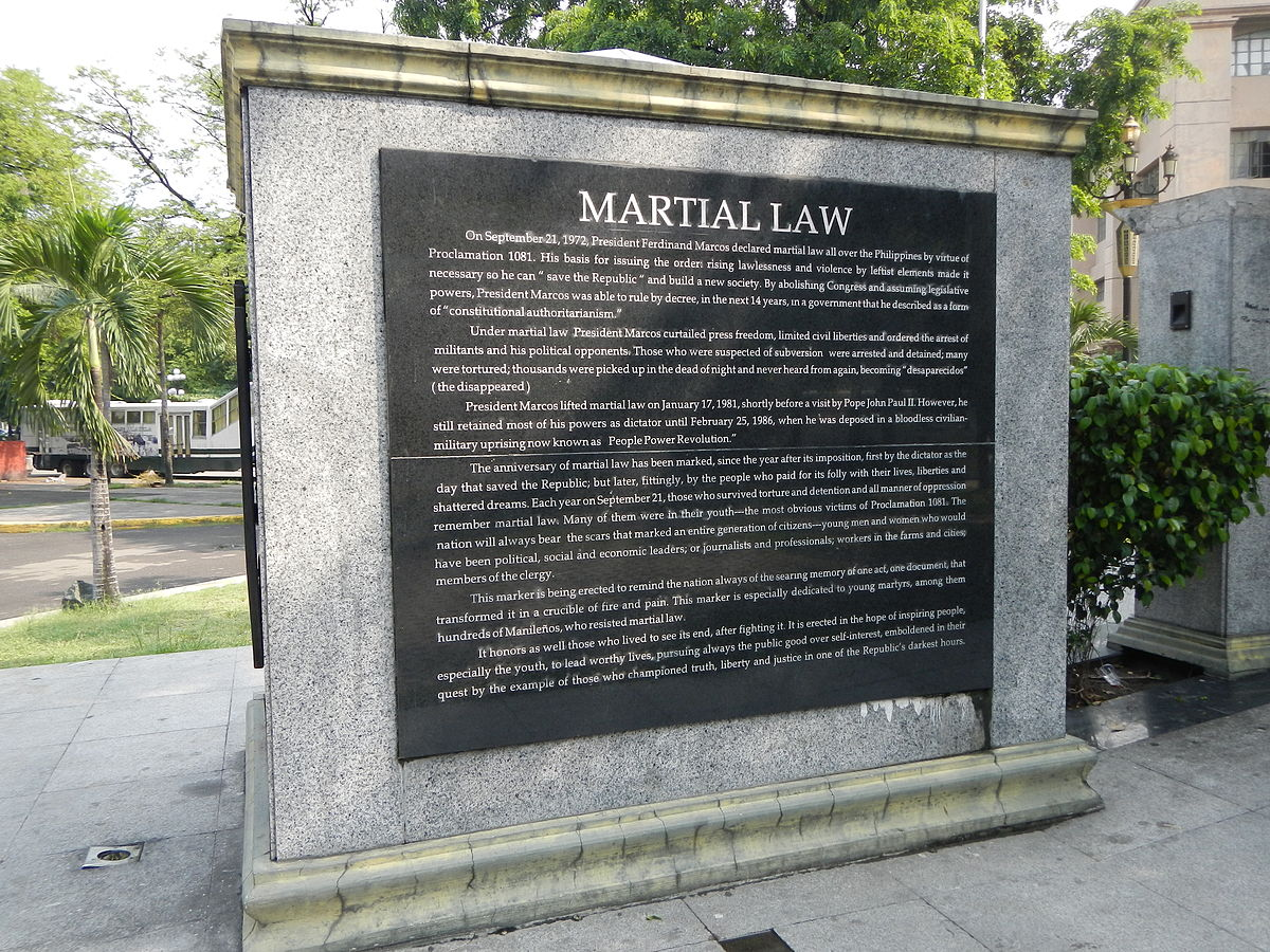 Martial law in the philippines wikipedia malvernweather Gallery