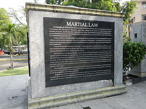 Martial law in the Philippines - Martialaw Law monument in Mehan Garden