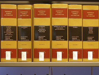 Martindale-Hubbell - Martindale-Hubbell Law Directory volumes on the shelf at a law library