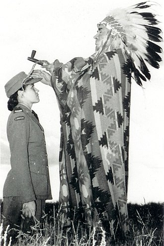 Mary Greyeyes - Mary Greyeyes (left) appeared in a famous army publicity photograph, taken in 1942.