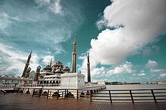 Terengganu - Crystal Mosque in Kuala Terengganu.