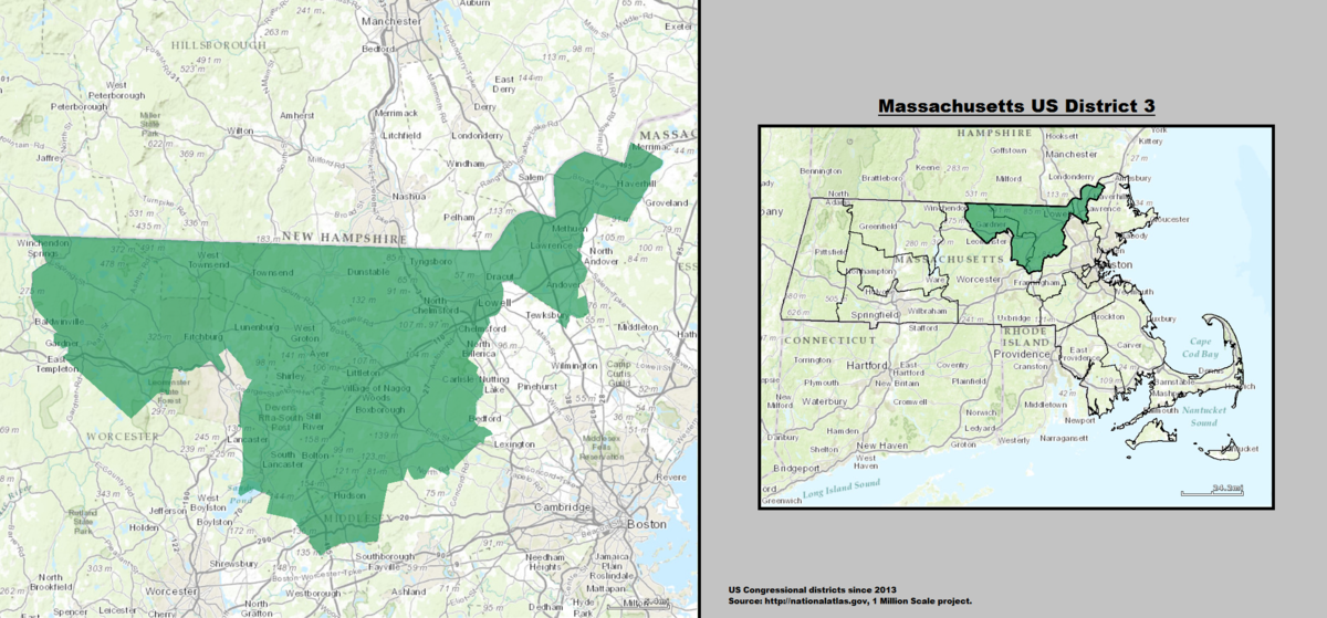 massachusetts s 3rd congressional district wikipedia