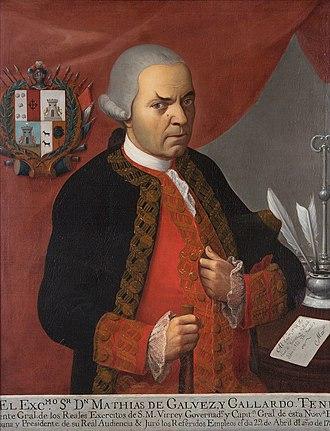 Battle of Roatán - Guatemalan Governor Matías de Gálvez