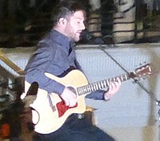 Matt Cardle performing in December 2010. Minogue mentored Cardle, who became the winner of the seventh series of The X Factor. Image: James Whatley.