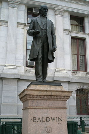 Matthias W. Baldwin - A statue of Baldwin in front of Philadelphia City Hall.