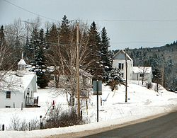 Community of McArthur Mills along Hwy 28.