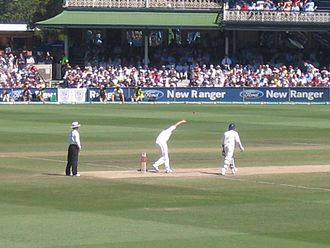 Glenn McGrath - McGrath bowling a wicket-taking ball to Kevin Pietersen at the SCG in 2007