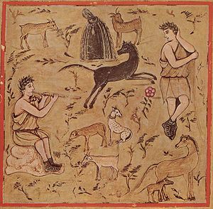 Georgics - Georgics Book III, Shepherd with Flocks, Roman Virgil.