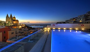 Mellieha view with pool in foreground.jpg